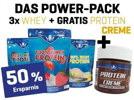 POWER-PACK 100% WHEY + PROTEIN CREME