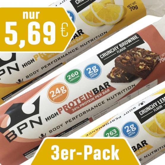 """3er-Pack Protein-Riegel """"Crunchy"""""""