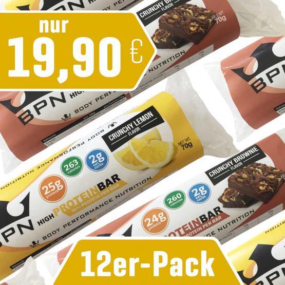 """12er-Pack Protein-Riegel """"Crunchy"""""""